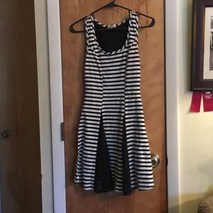 Black and white stripe CR dress